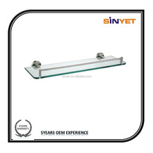 High quality Modern stainless steel Wall Mounted Bathroom accesory Lavatory glass shelf