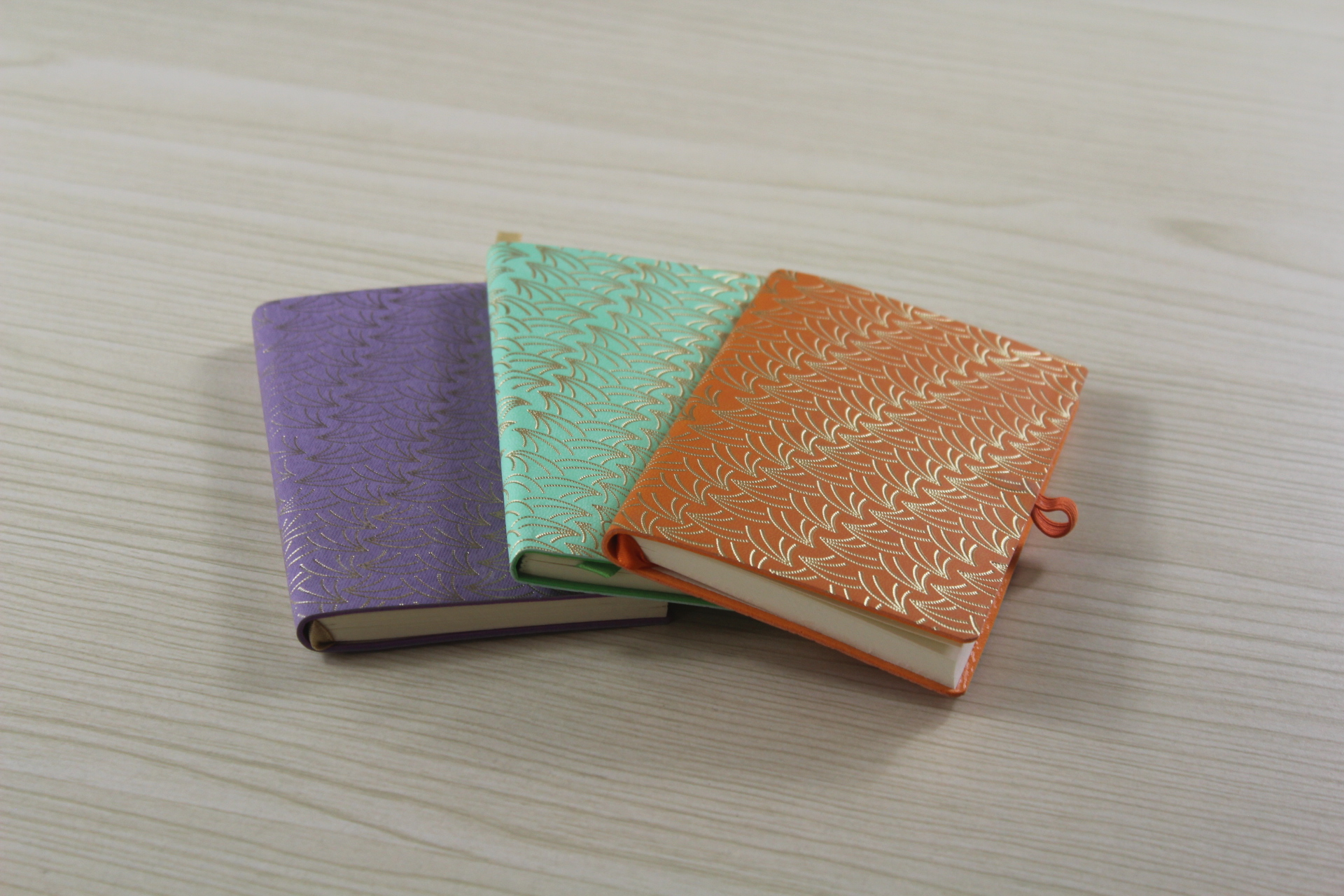 Hot Selling Cloth Cover Notebook with Woven Custom Logo for Promotion
