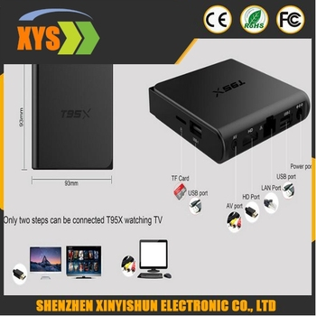 Android tv box T95X Amlogic S905X Quad Core Android 6.0 TV Box 2.4G BT4.0 WIFI 100M LAN H.265 KODI 16.1 Set Top Box Smart tv box