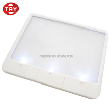 3x Power Ultra Slim LED Book Lighted magnifying sheet Full Page Magnifier