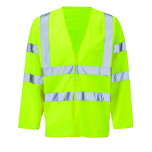 Hi Vis reflective Long Sleeve men safety vest 2 Band 2 Brace