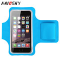 "HAISSKY Armband Case For iPhone 5 6 6S Samsung Galaxy S4 S5 Waterproof Sport Running Gym Pouch for 4.7"" cell phone"
