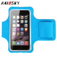 "HAISSKY Armband <strong>Case</strong> For iPhone 5 6 6S Samsung Galaxy S4 S5 Waterproof Sport Running Gym Pouch for 4.7"" cell phone"