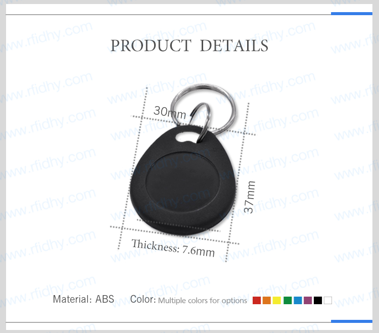 HOT SALE Free samples RFIDHY AB23 Custom RFID Key fob 13.56MHZ MIFARE RFID Keychain