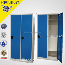 Two door Portable folding Steel Clothes wardrobe