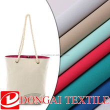wholesale organic canvas dyed woven 100% cotton fabric used for bag and shoes