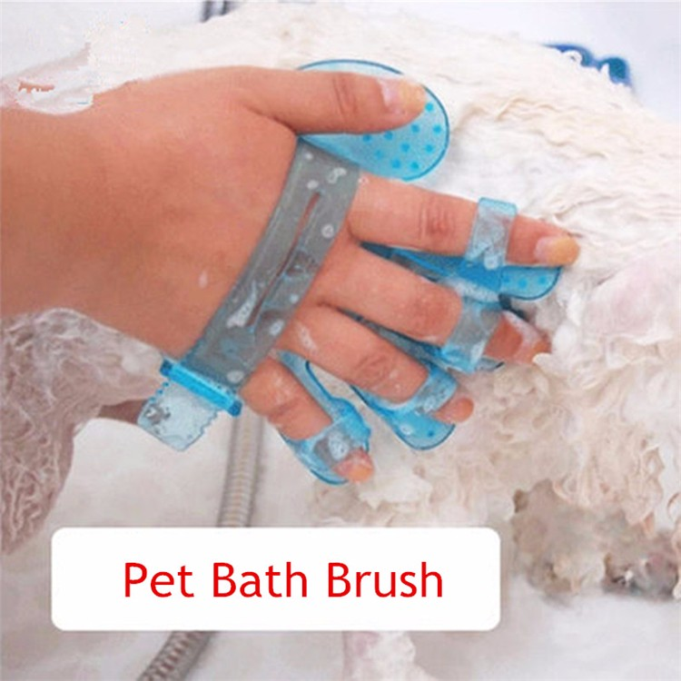 Cleaning Brush Pet Rubber Brush Five Fingers