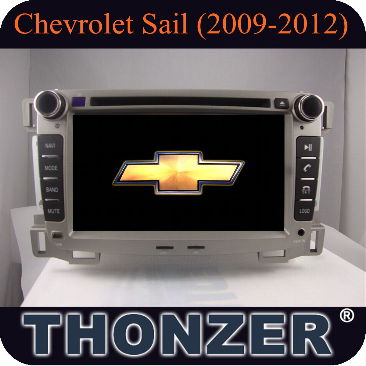 double din radio chevrolet sail (2009-2012) with DVD GPS radio bluetooth USB IPOD TV