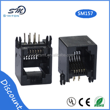 China supplier 6p6c rj11 telephone jack rj11 pcb jack