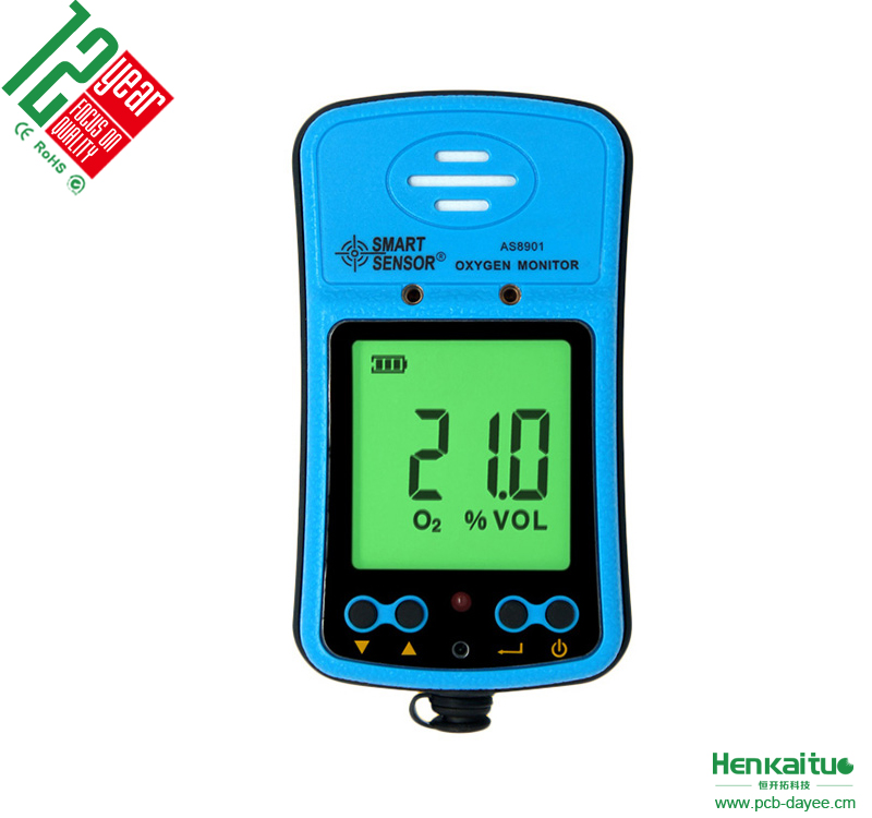 Handheld Precision <strong>O2</strong> Detector High Low Alarm Adjustable Rechargeable Battery Digital Oxygen <strong>Gas</strong> detector