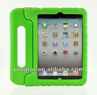 Green Child Kids Shock Proof Thick Foam EVA Cover Case Handle Stand For iPad Mini