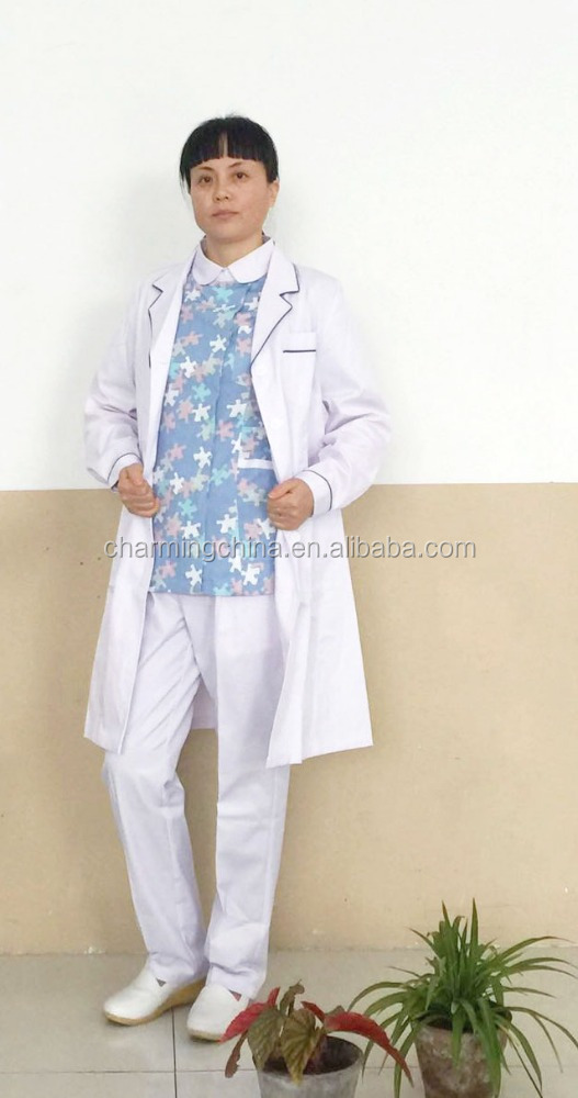 Fashionable Designed White Hospital Doctor Medical Lab Coat