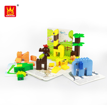 enlighten brick toys building blocks zoo animals plastic toy for kids
