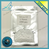 Classical round brilliant cut white cz gemstone for micro paving