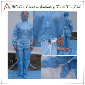 LAB-CL-06 men's coat for antistatic cleanroom safety esd smock ESD full body nylon suit