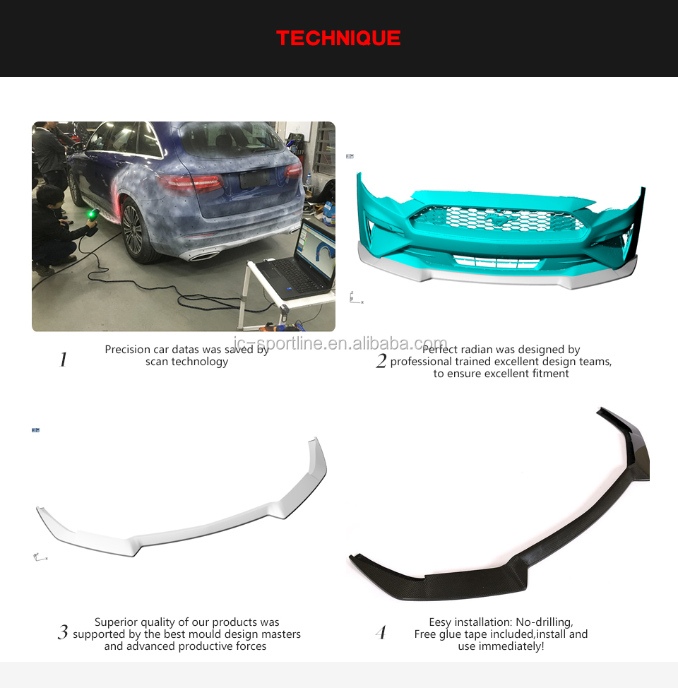 Carbon Fiber GT Front Lip for Ford Mustang GT Coupe 2-Door 2018-2019