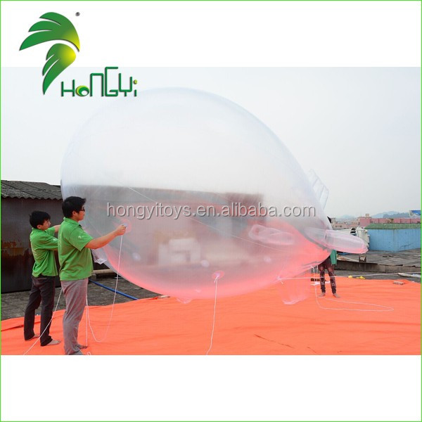 Newest Design Advertising Inflatable Transparent Blimp/Giant Inflatable Zeppelin Helium Balloon For Sale