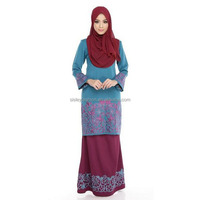 Elegant Dress Abaya Fashion Lace Beading Baju Kurung Muslimah Dress