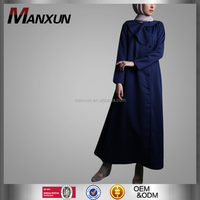 New Arrival Dubai Muslim Abaya Sale Navy Blue Abaya Turkey With Invisitable zipper Women Abaya Turkey Jilbab