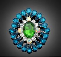 2016 Fashion Jewelry crystal drop flower brooch for women