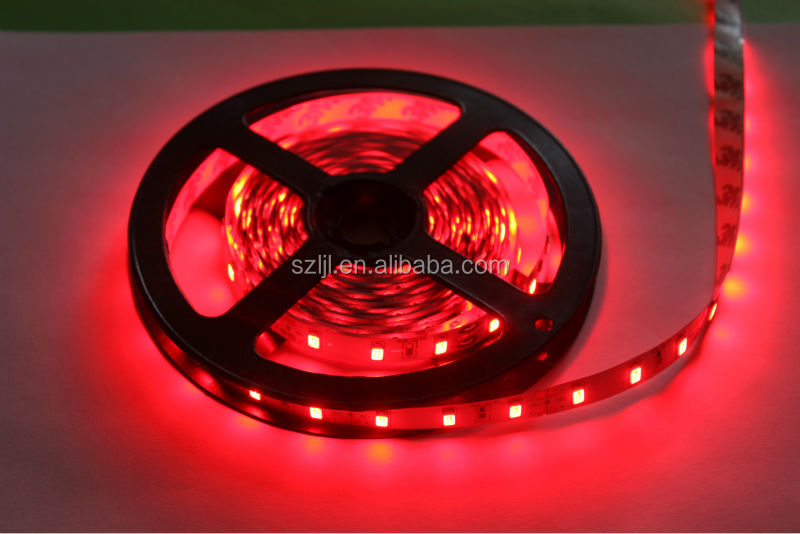 Large screen TV backlight SMD5050 60leds/m red color led flexible strip light
