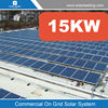 New design 15000w solar panel system flat roof mount include mono pv solar modules also with solar inverter on grid