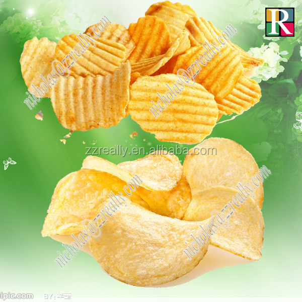 Ribbed/wave/plain potato chip slicer, potato chips making machine for sale