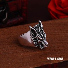 Ebay Hot Mens Boy Skull Zinc Alloy Steel Punk Style Ring
