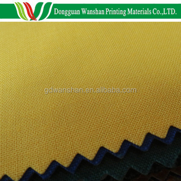 Book Binding Cover Material : Yellow paper backed book binding fabric cover cloth