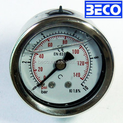 All 304 stainless steel bourdon tube pressure gauge calibration procedure