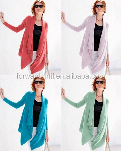 women sumer cashmere, cashmere drapped thin cardigan
