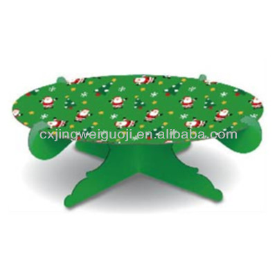 decorative folding single tier cardboard cake stand