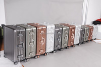 good price aluminum trolley flight case , custom aluminum suitcase with 360degree wheel from china