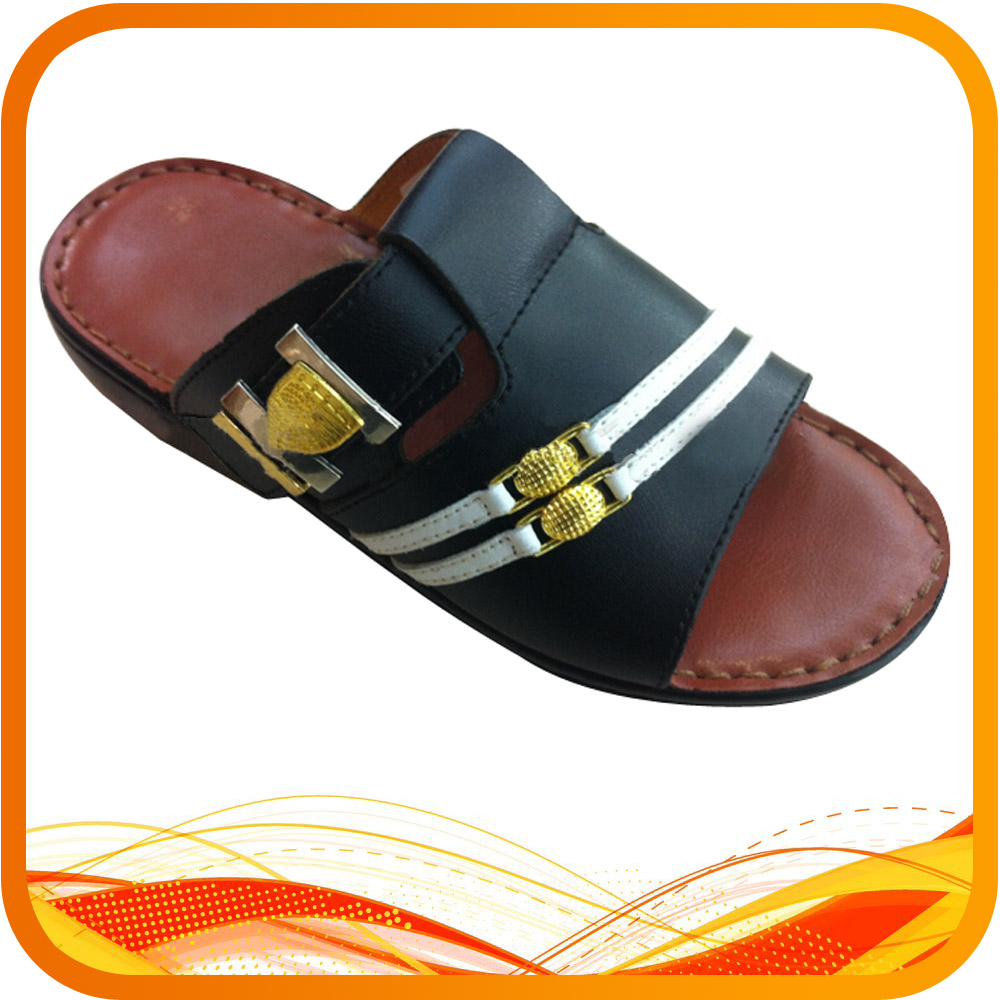 New Design PU Men Sandals Arabic Slipper Shoes