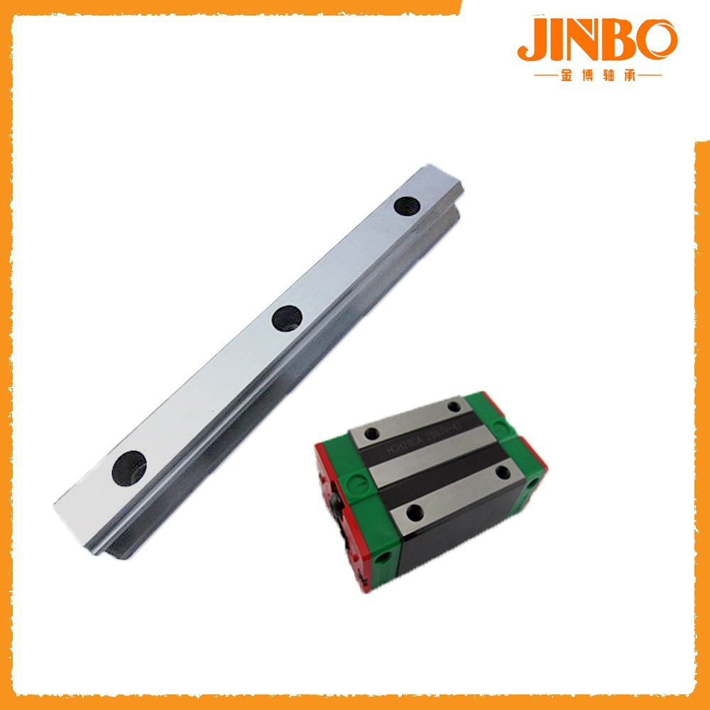 Linear guide rail system run with linear motion bearings