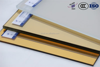 ISO, CCC, golden reflective glass facade price/ Beijing XSH Glass