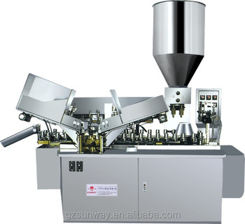 Tube Filling and sealing machine for double color toothpaste