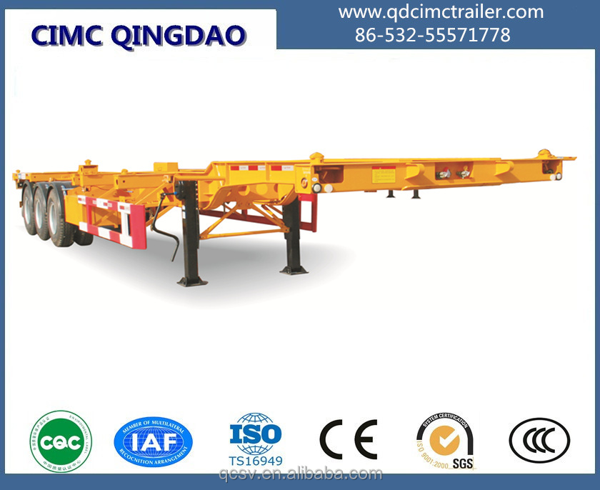 CIMC brand 40ft Gooseneck Type Container ChassisContainer Semitrailer40ft Container Trailer