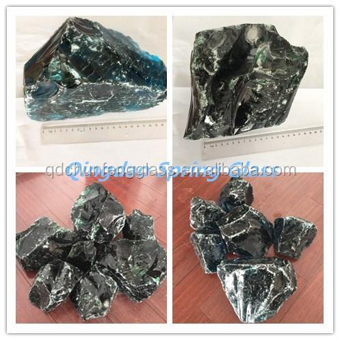 Garden decorative large glass rock buy decorative glass for Large outdoor decorative rocks