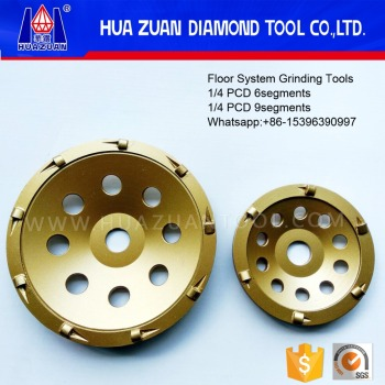 floor system pcd cup grinding wheel for concrete, epoxy and paint floor