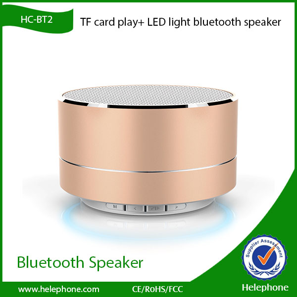 high quality Portable USB and TF card port new rohs bluetooth speaker