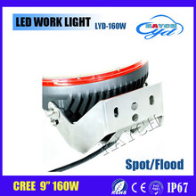 1Pcs 9inch 160W Cr-ee Led Driving Spot Flood Work Light 4WD Offroad Replace ARB