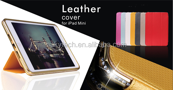 Luxury diamond metal bumper case for ipad mini, metal bumper case for ipad mini with factory price