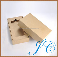 Professional designed brown kraft paper phone box for gifts with great price