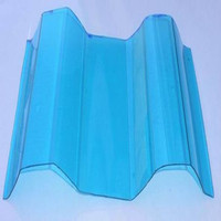 High performance Polycarbonate corrugated glazing sheets with UV blocking for visor