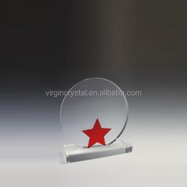OEM design unique blank crystal star trophy awards for customized sports gift