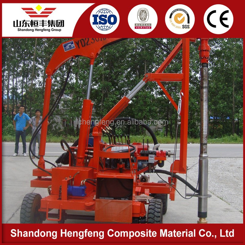 hot sale high precision Simple operation hydraulic Guardrail pile driver