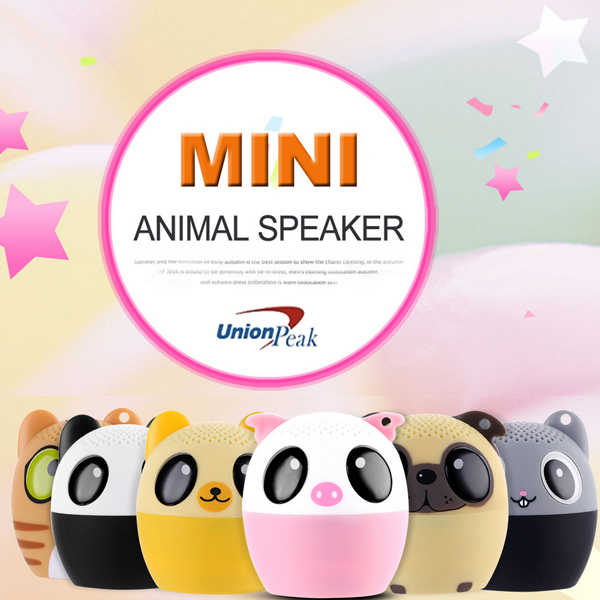 2017 Mini Bluetooth Speaker cute lovely Animal Style with Remote Selfie Function Bluetooth speaker Mini Portable Speakers
