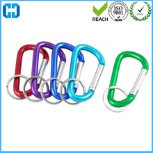 Supply Traveling Fishing Spring Loaded Screw Lock Carabiner Hook Key Holder
