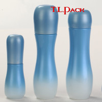 Empty cosmetic glass bottles for lotion packing